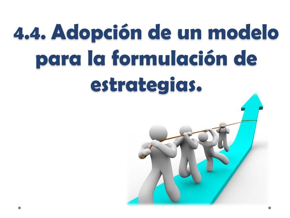 4.4. Adopción de un modelo para la formulación de estrategias.