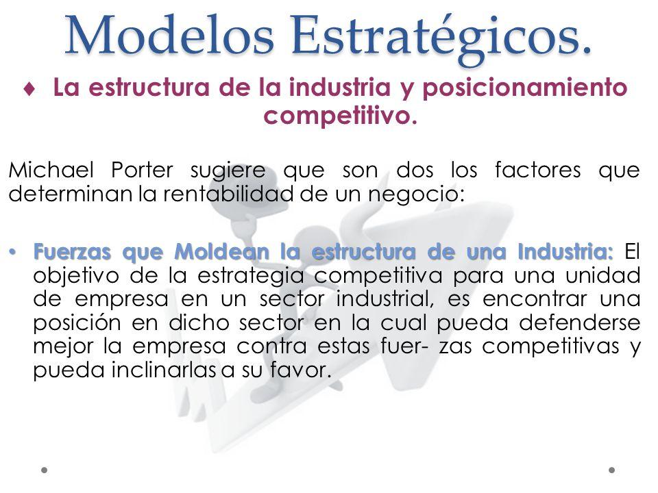 La estructura de la industria y posicionamiento competitivo.