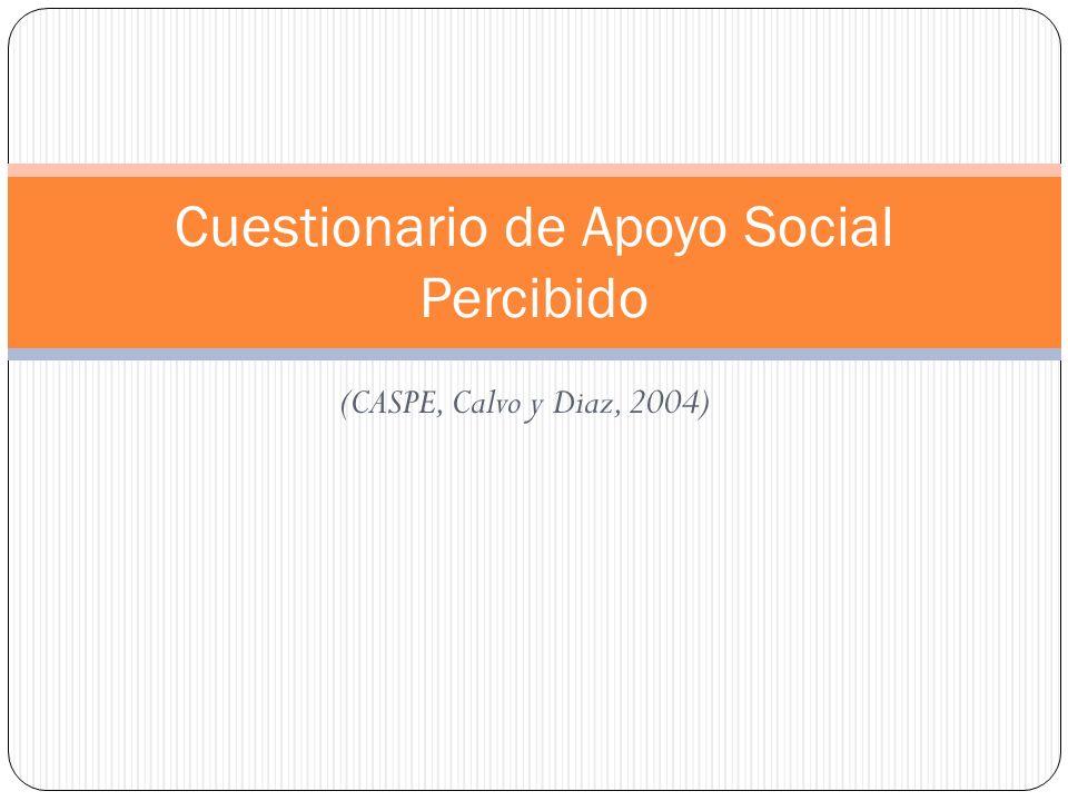 Cuestionario de Apoyo Social Percibido