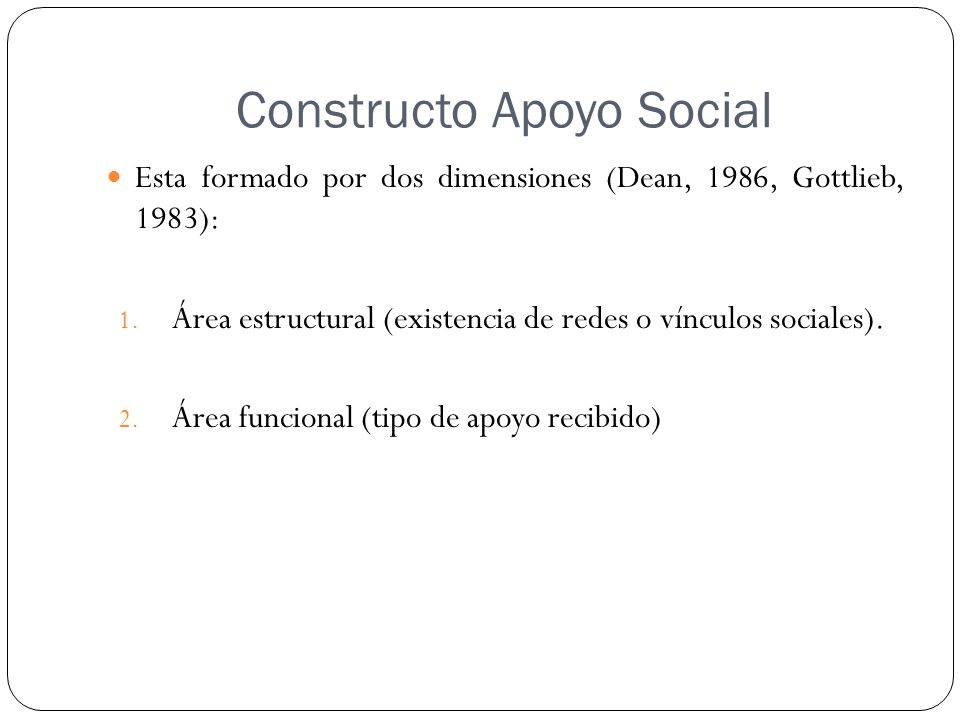 Constructo Apoyo Social