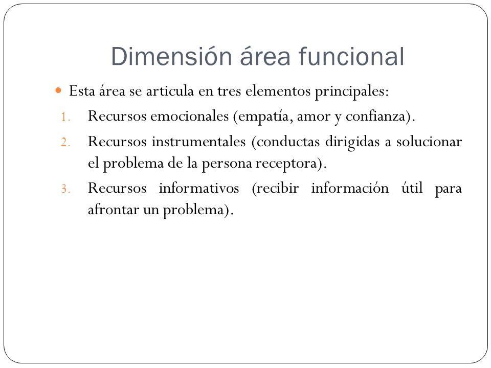 Dimensión área funcional