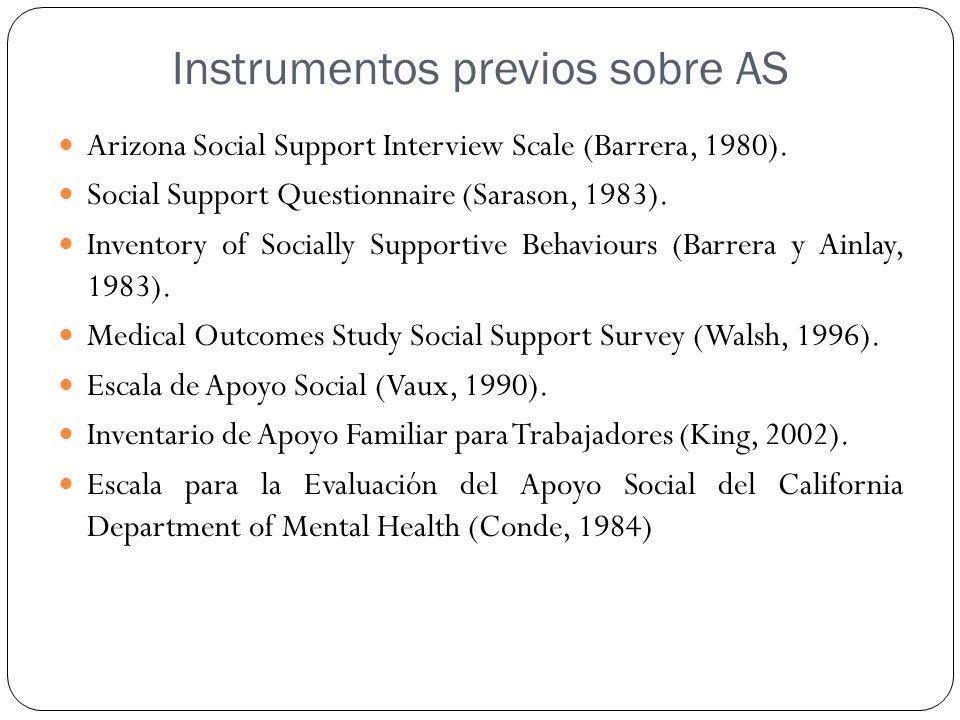 Instrumentos previos sobre AS