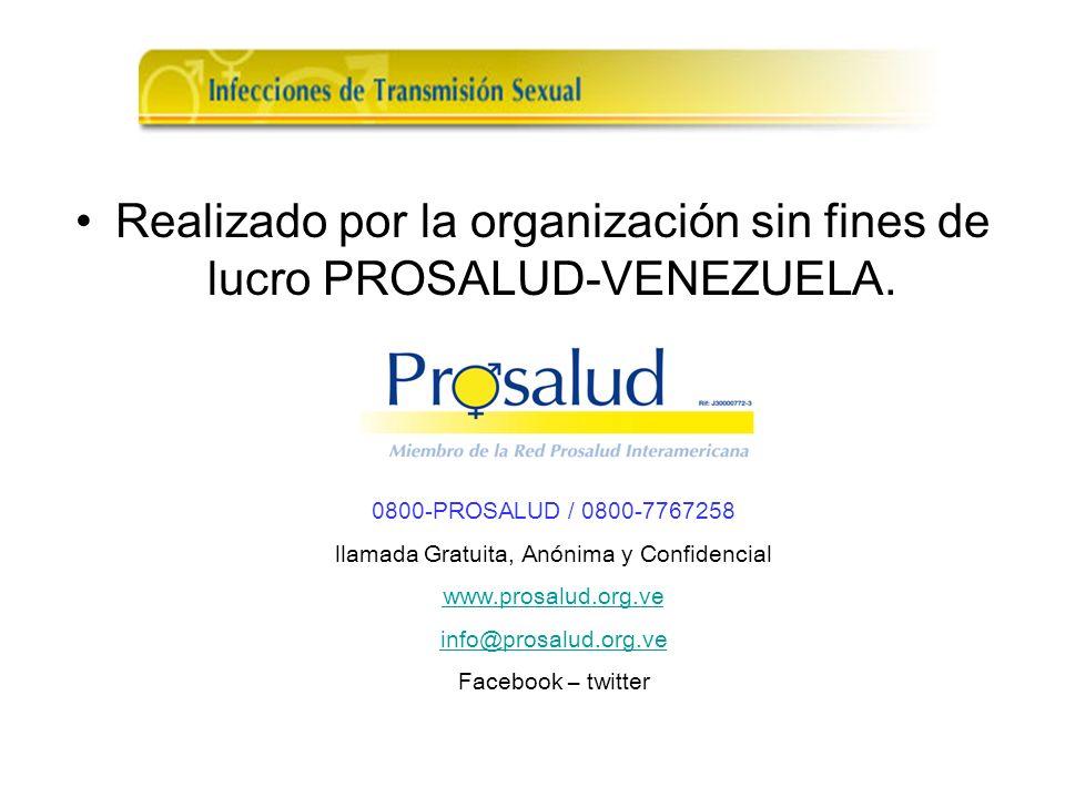 Realizado por la organización sin fines de lucro PROSALUD-VENEZUELA.