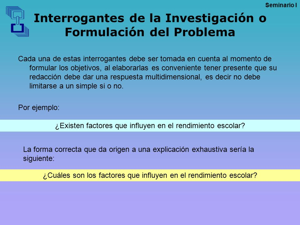 Interrogantes de la Investigación o Formulación del Problema