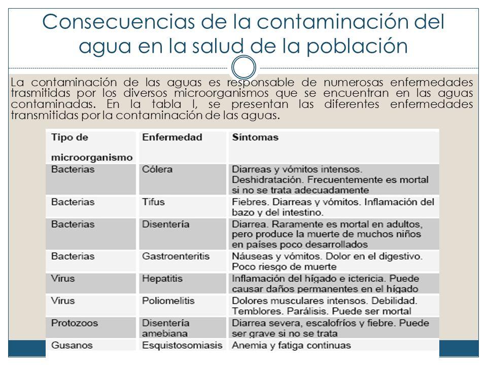 Consecuencias de la contaminación del agua en la salud de la población