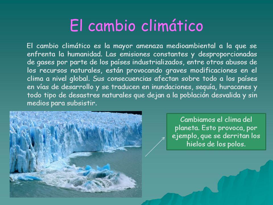 El cambio climático