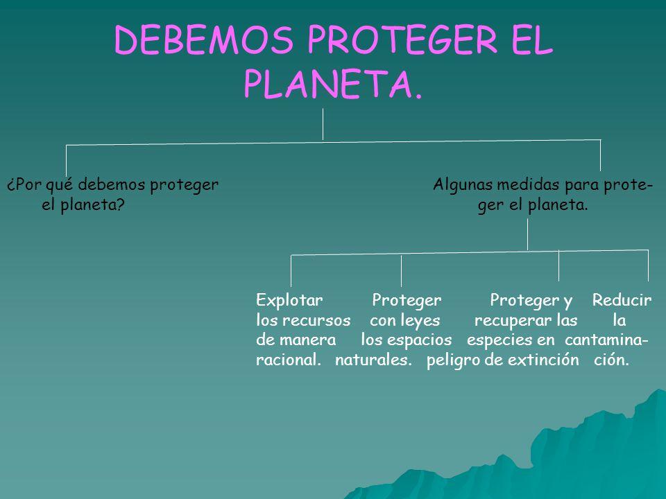 DEBEMOS PROTEGER EL PLANETA.