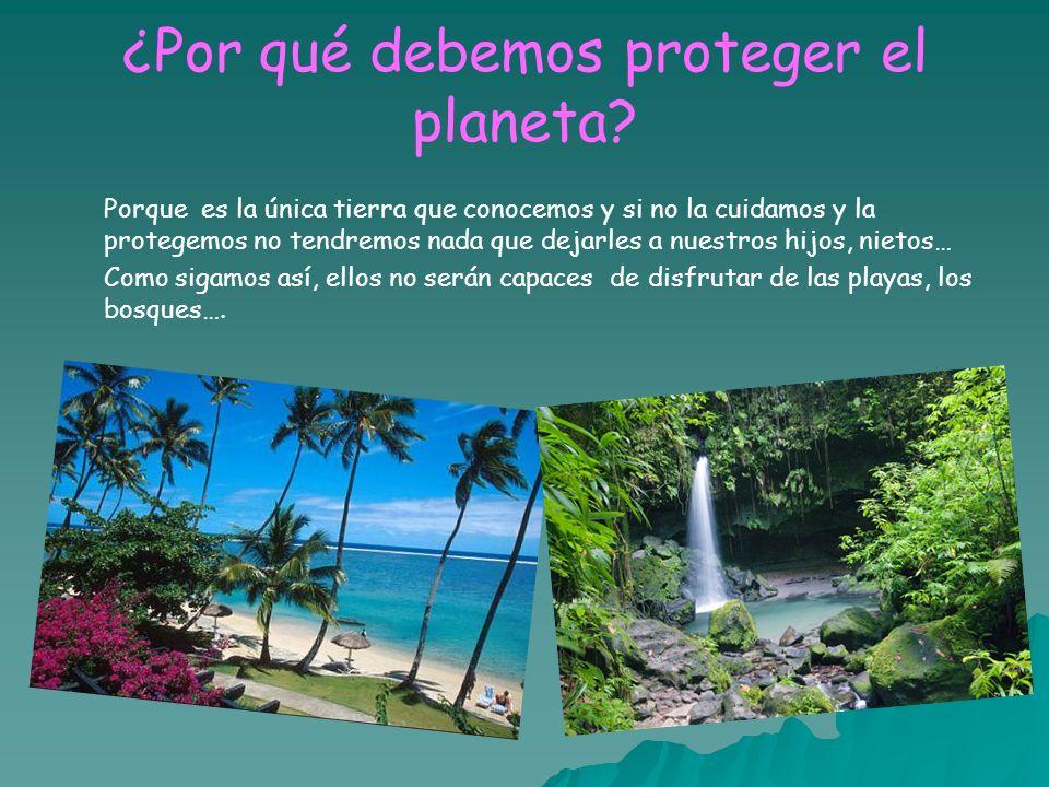 ¿Por qué debemos proteger el planeta