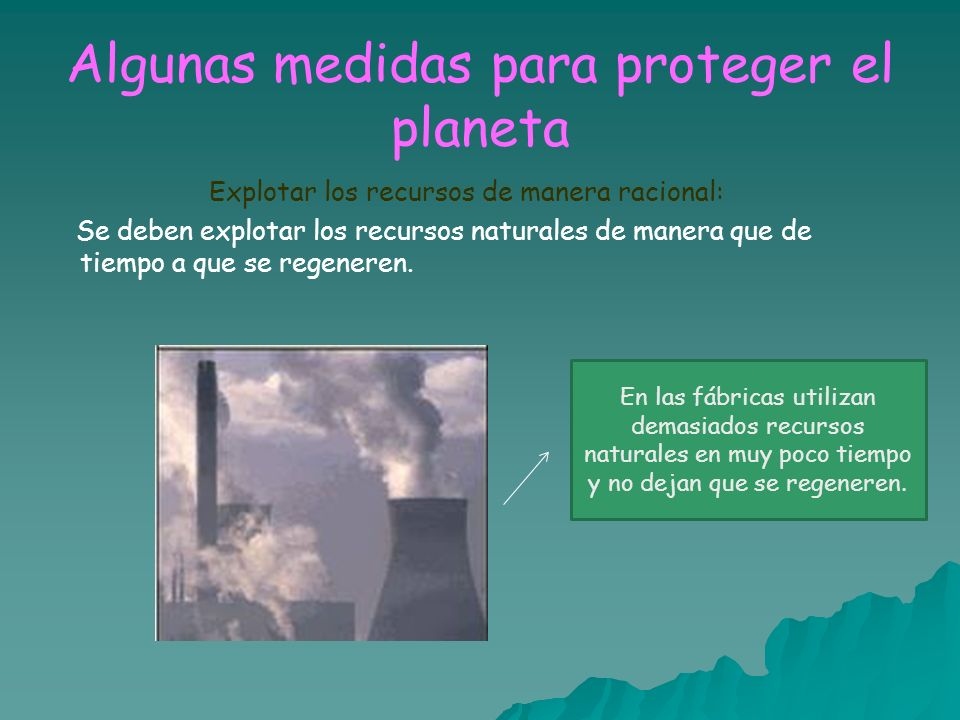 Algunas medidas para proteger el planeta