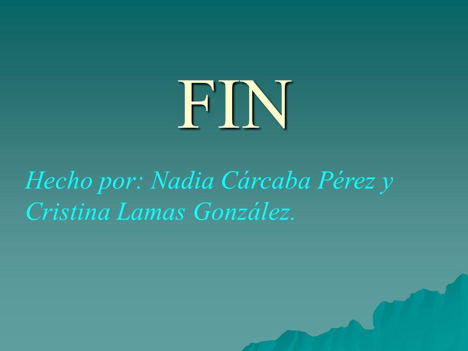 FIN Hecho por: Nadia Cárcaba Pérez y Cristina Lamas González.