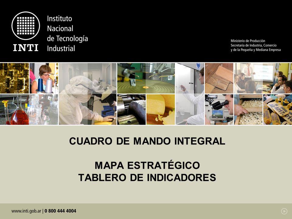 CUADRO DE MANDO INTEGRAL MAPA ESTRATÉGICO TABLERO DE INDICADORES