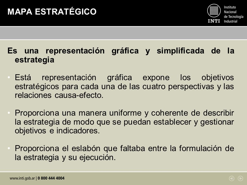 MAPA ESTRATÉGICO Es una representación gráfica y simplificada de la estrategia.