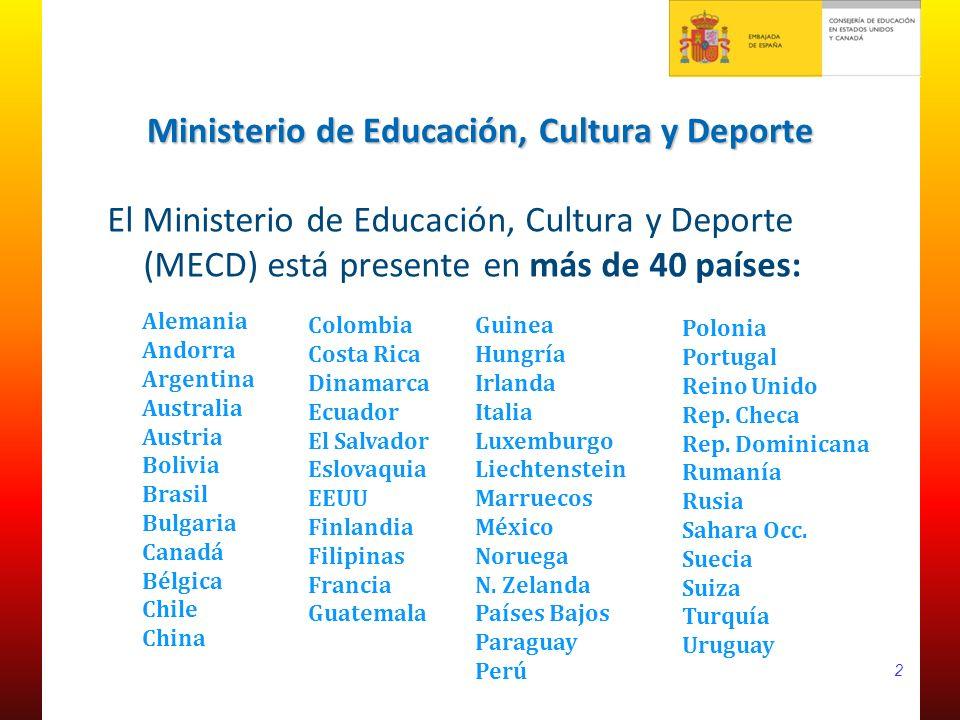 La consejer a de educaci n en eeuu y canad ppt descargar for Ministerio de educacion exterior