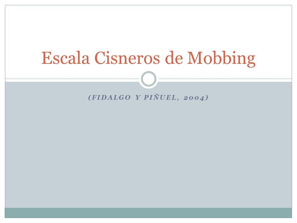 Escala Cisneros de Mobbing
