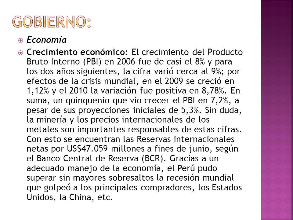 Gobierno: Economía.