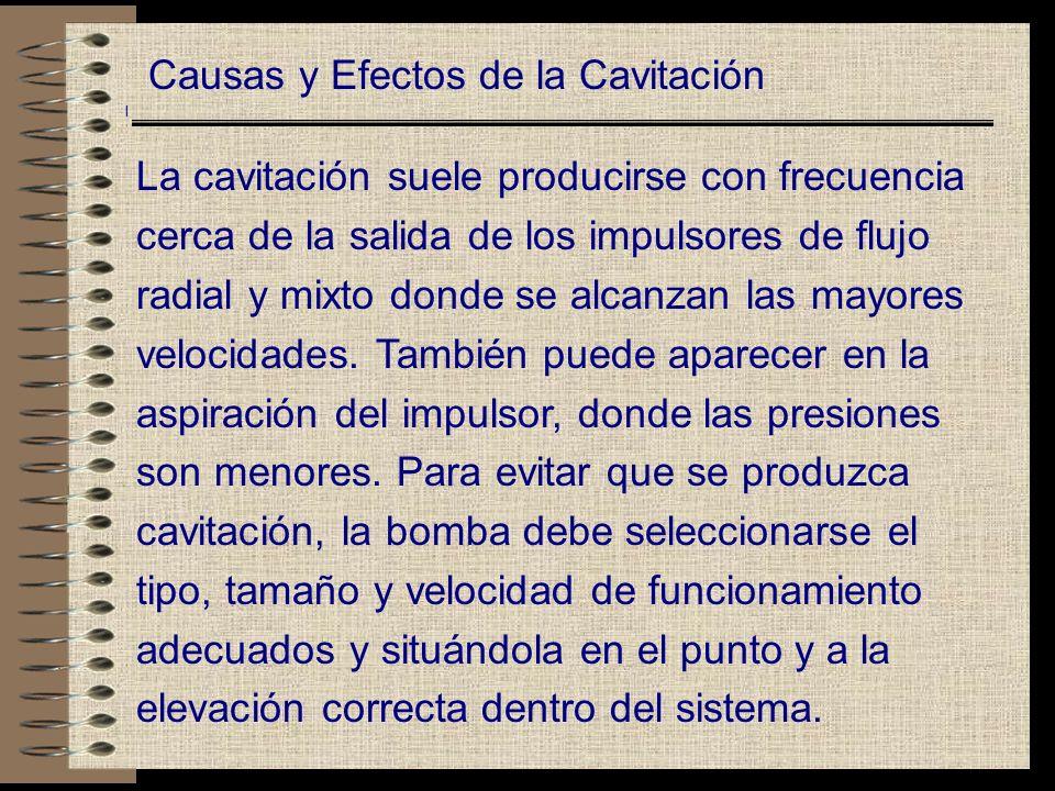 Causas y Efectos de la Cavitación