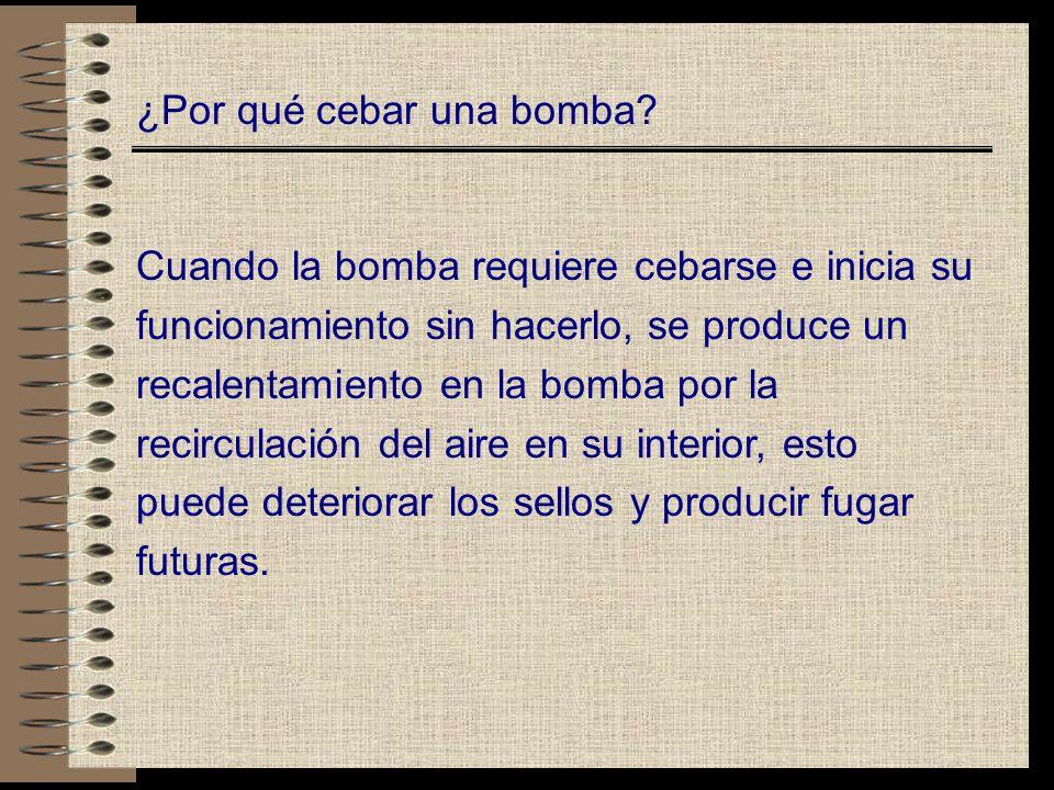 ¿Por qué cebar una bomba