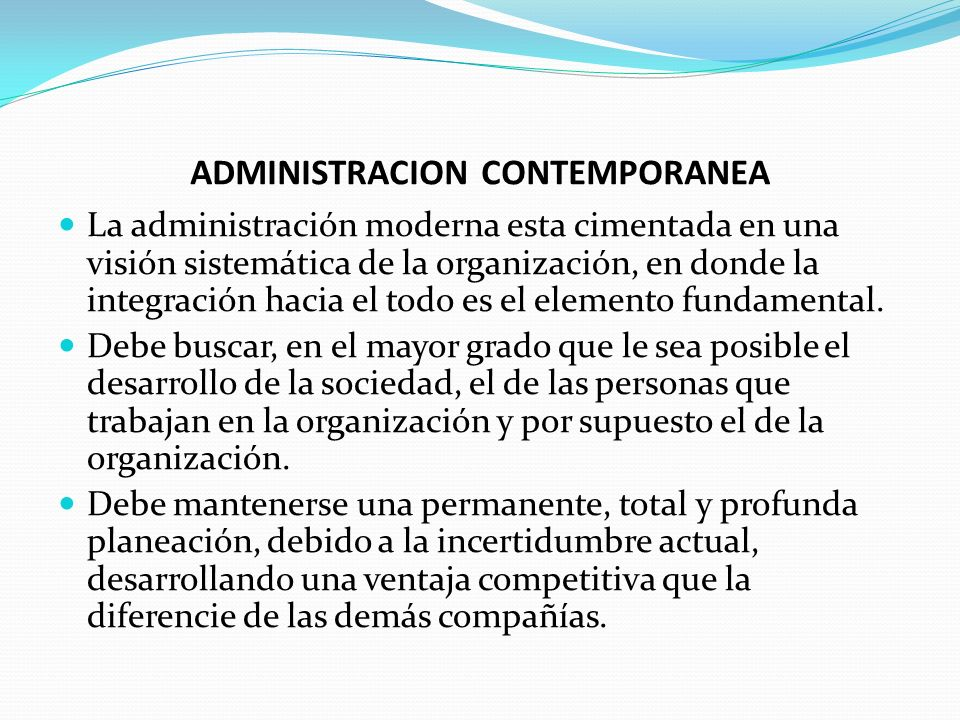 Administracion contemporanea ppt video online descargar for Definicion de contemporanea