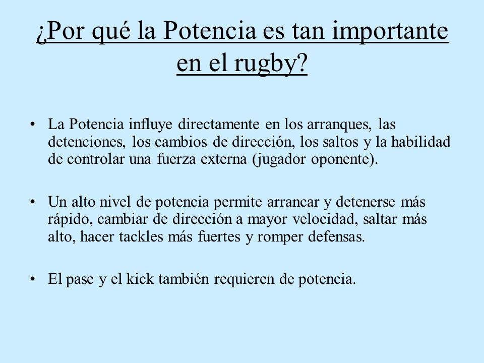 ¿Por qué la Potencia es tan importante en el rugby