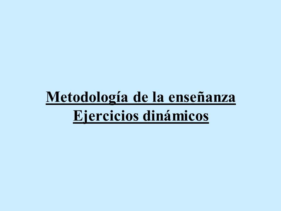 Metodología de la enseñanza Ejercicios dinámicos