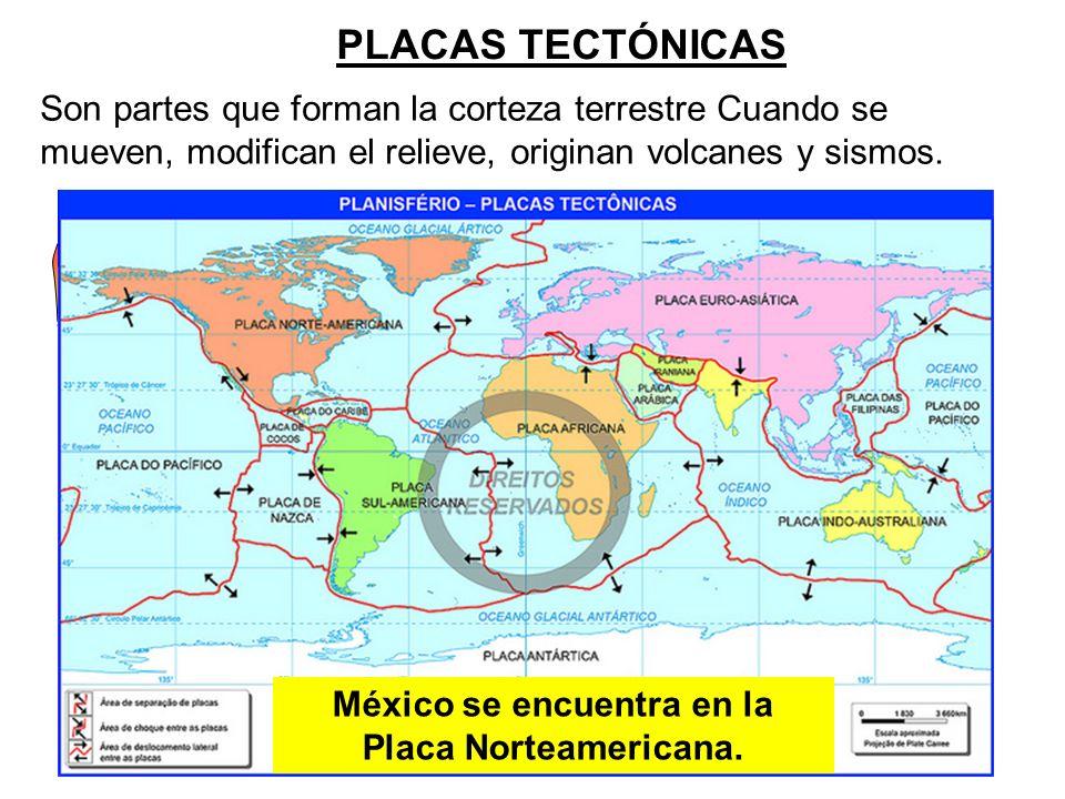 México se encuentra en la Placa Norteamericana.