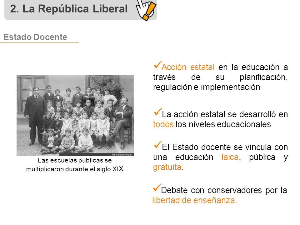 Historia de chile la rep blica liberal pptcanshhua03021v1 for La accion educativa en el exterior