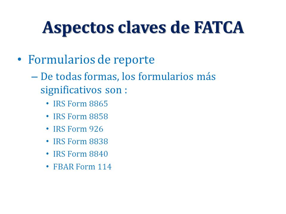 Ley Fatca Y Su Incidencia En Una Correcta Administracin Financiera