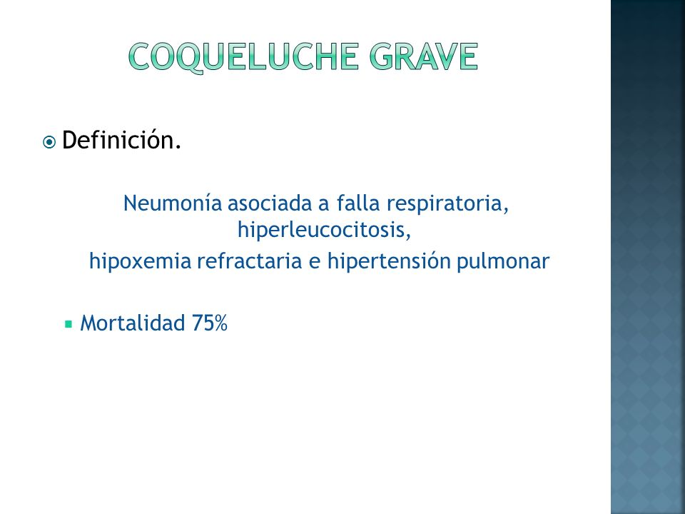 Coqueluche (tos convulsa o pertussis) - ppt video online