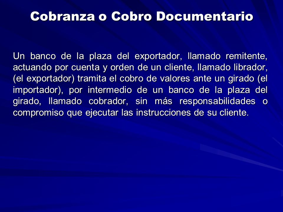 Cobranza o Cobro Documentario