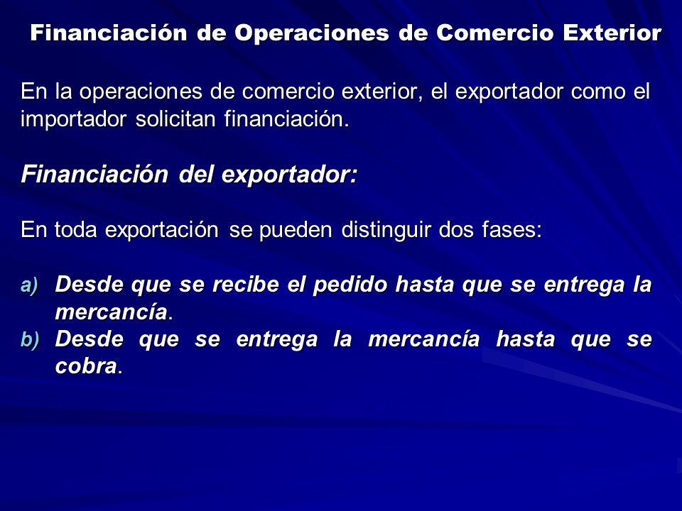 Financiación de Operaciones de Comercio Exterior