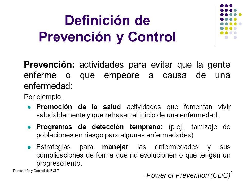 Prevención y Control de las ECNT - ppt descargar