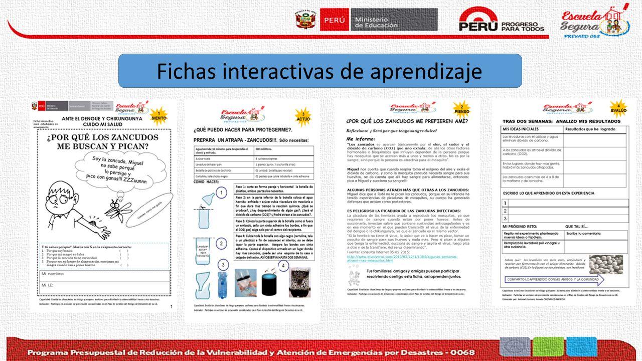 Fichas interactivas de aprendizaje