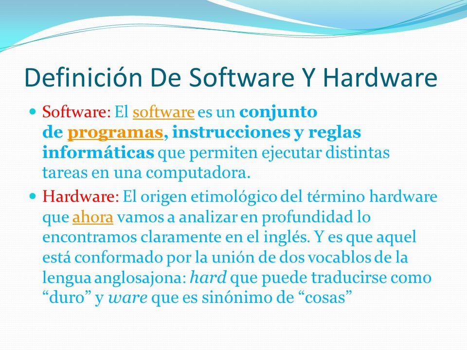 definici n de software y hardware ppt descargar