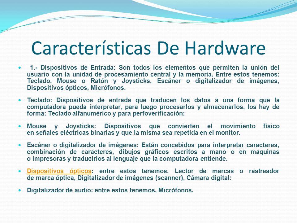 Definici n de software y hardware ppt descargar for Elementos de hardware
