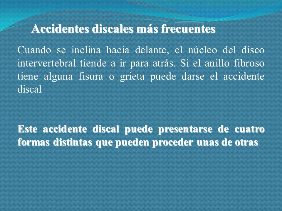 Accidentes discales más frecuentes