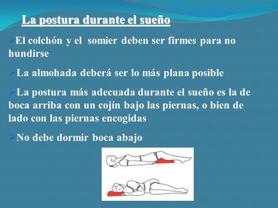La postura durante el sueño