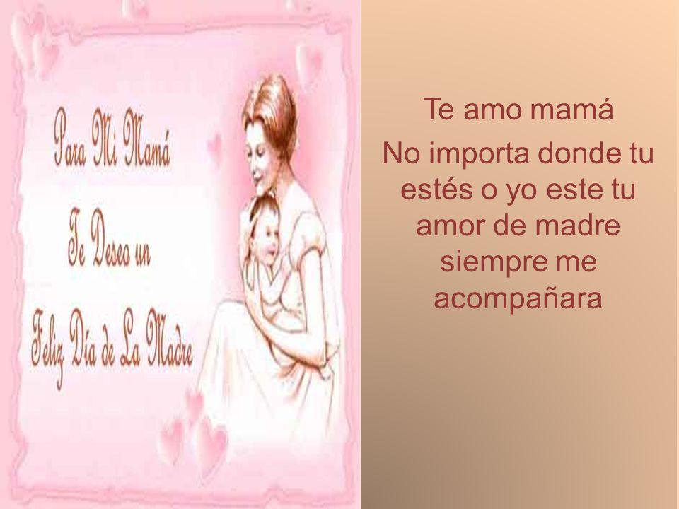 Te amo mamá No importa donde tu estés o yo este tu amor de madre siempre me acompañara