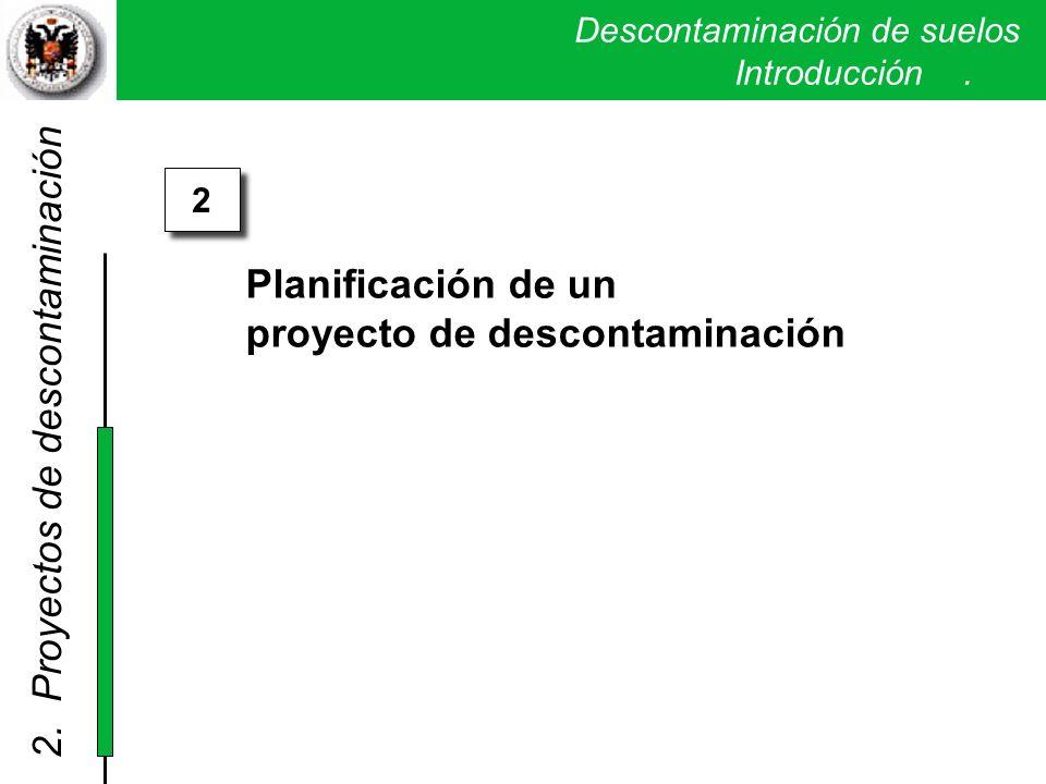 proyecto de descontaminación 2. Proyectos de descontaminación