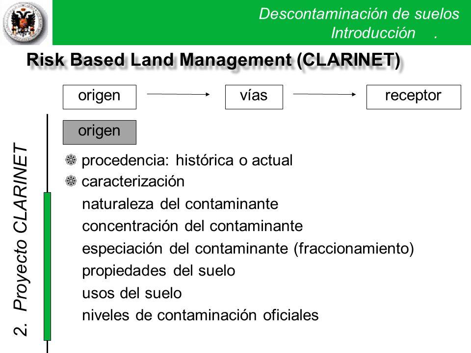 Risk Based Land Management (CLARINET)