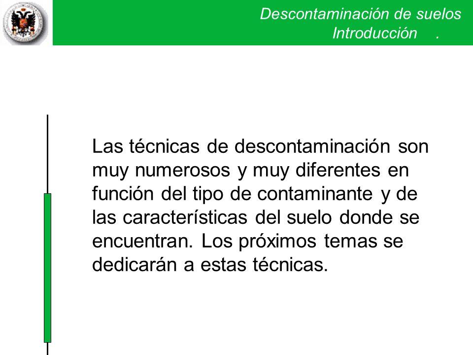 Descontaminación de suelos . Introducción .