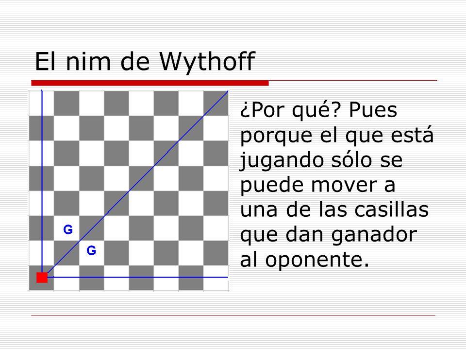 El nim de Wythoff ¿Por qué.