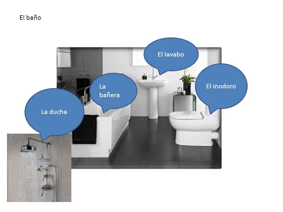El baño En el baño hay… El baño El lavabo El inodoro La bañera