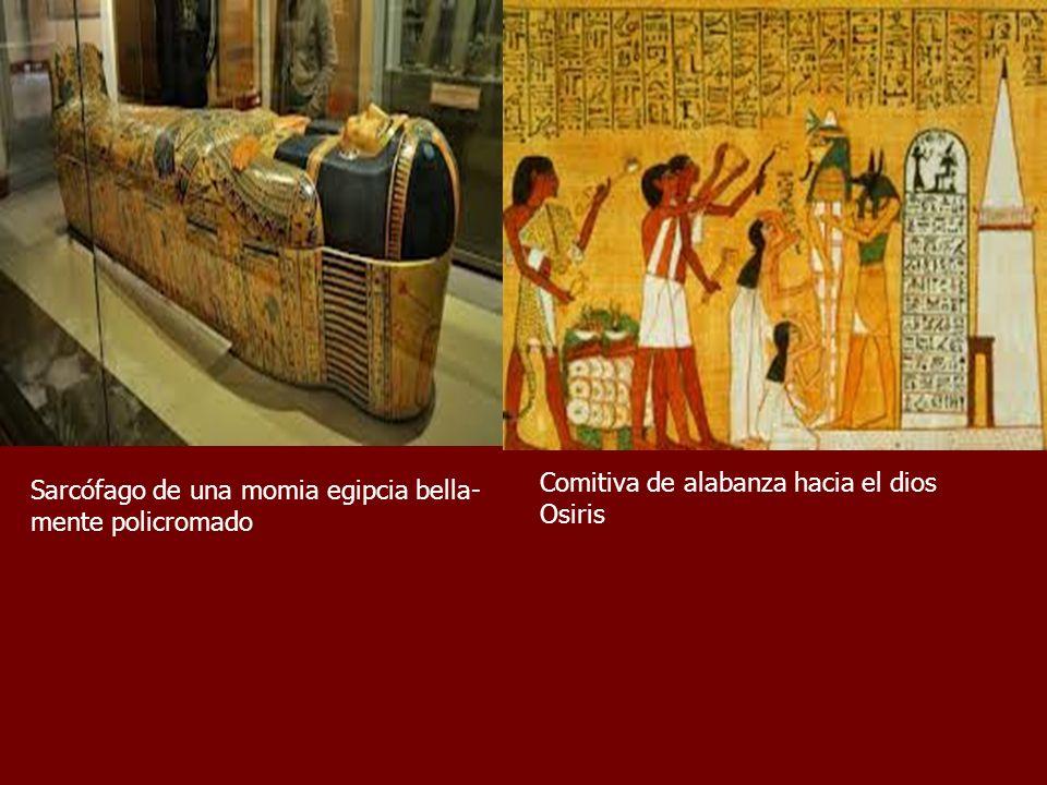 Comitiva de alabanza hacia el dios Osiris