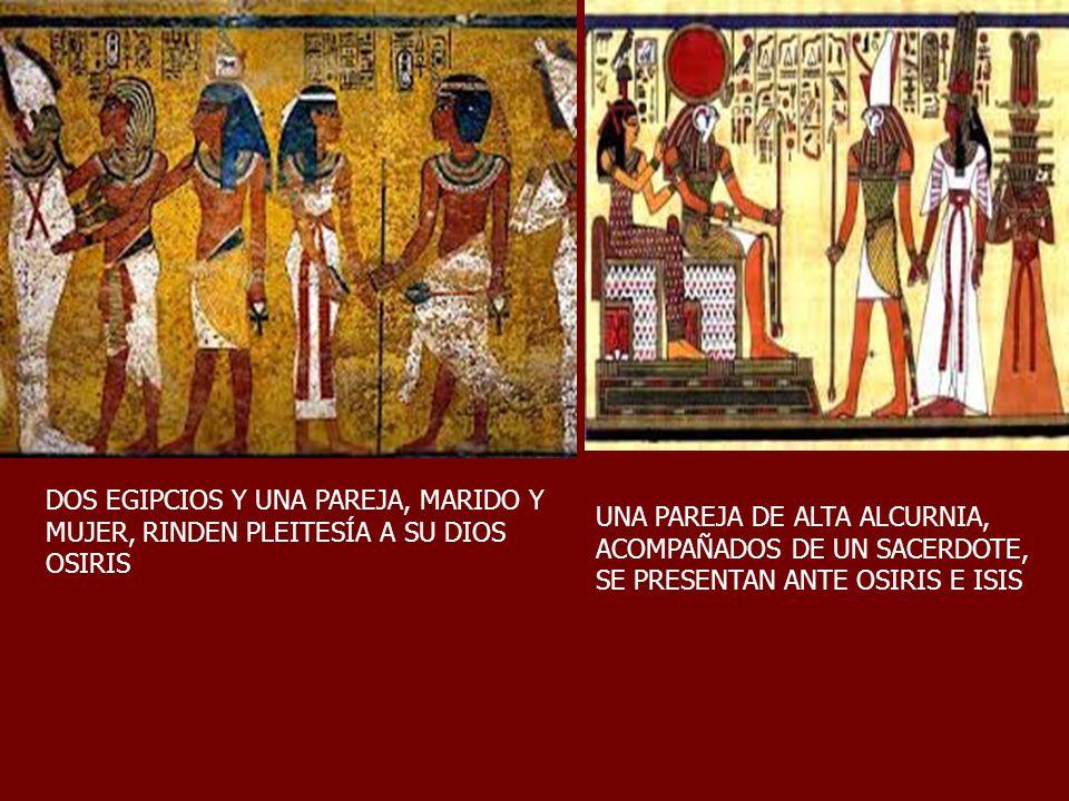 DOS EGIPCIOS Y UNA PAREJA, MARIDO Y