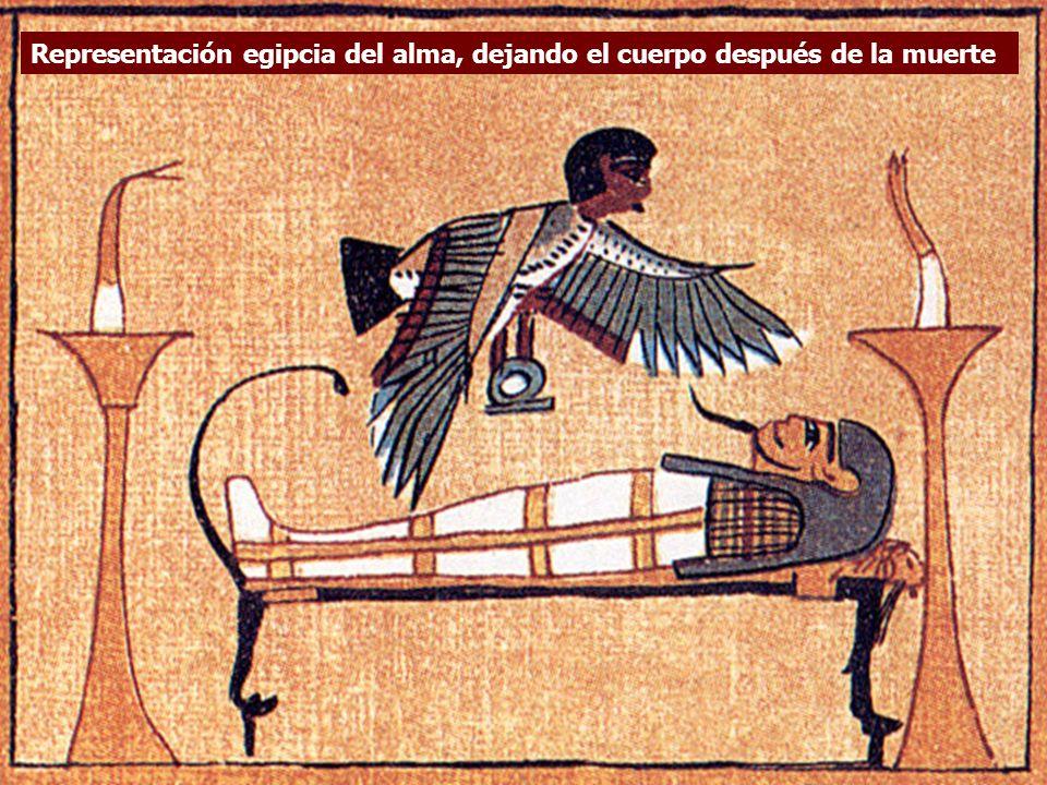 Representación egipcia del alma, dejando el cuerpo después de la muerte