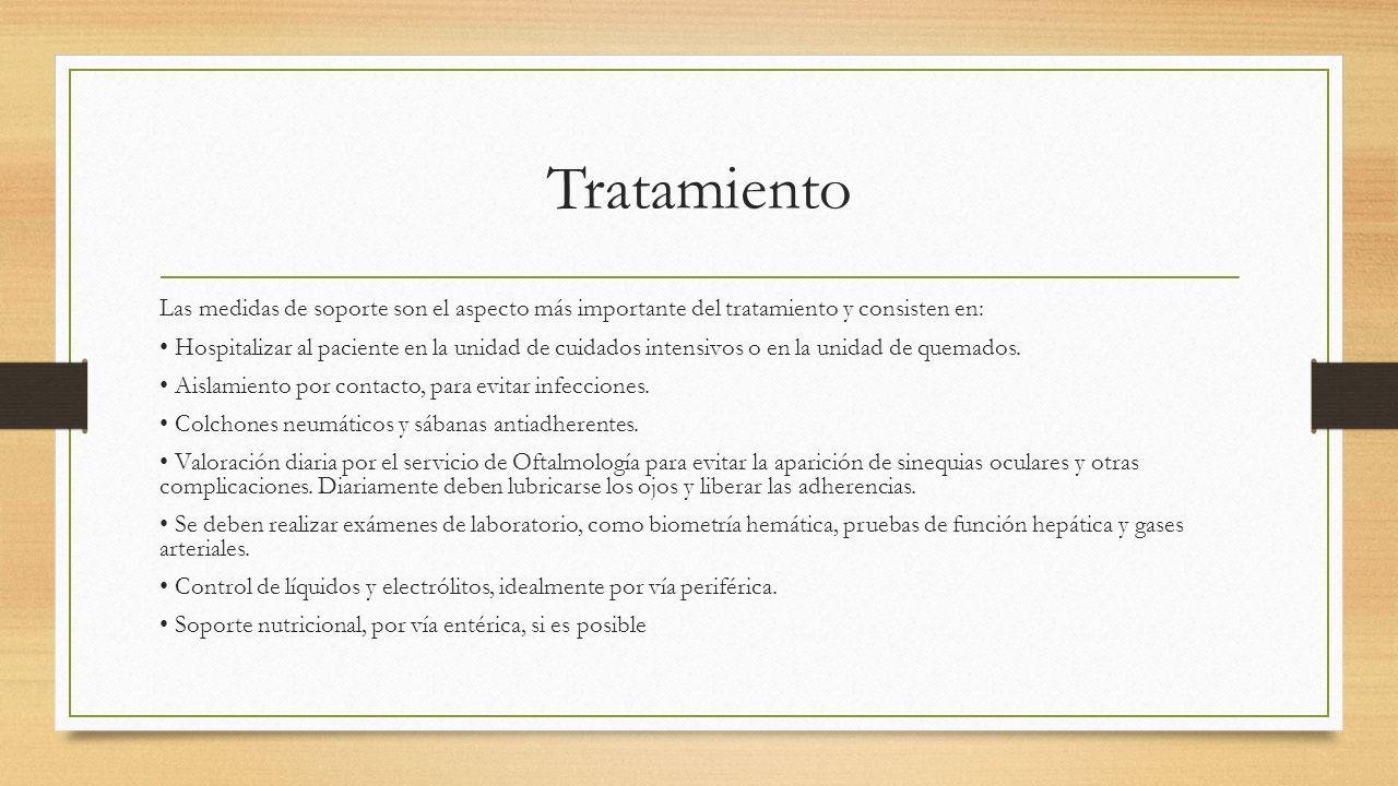 Tratamiento Las medidas de soporte son el aspecto más importante del tratamiento y consisten en: