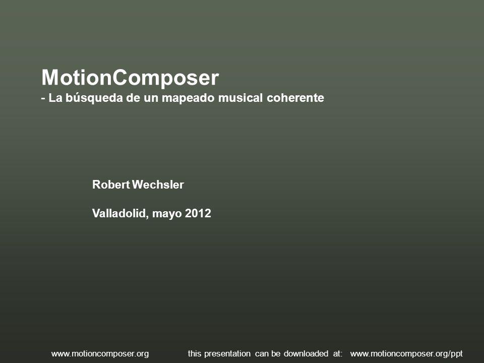 MotionComposer - La búsqueda de un mapeado musical coherente