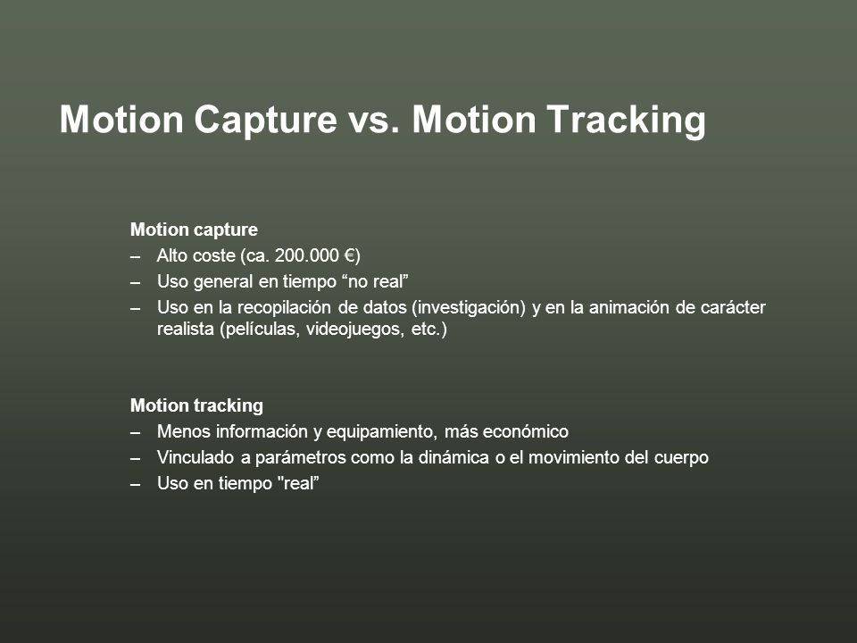 Motion Capture vs. Motion Tracking