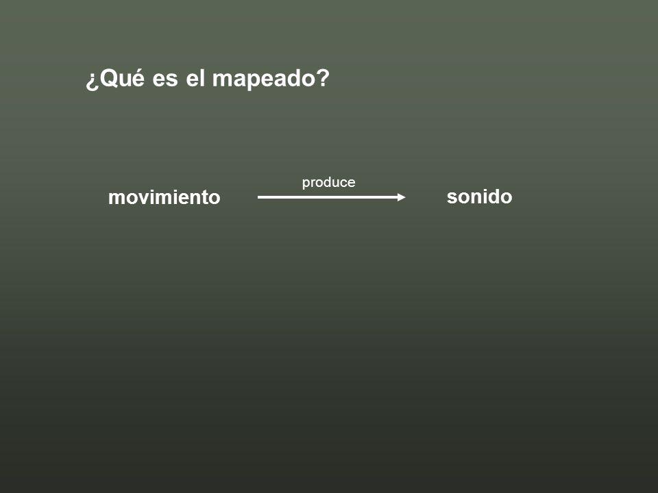 ¿Qué es el mapeado movimiento sonido produce