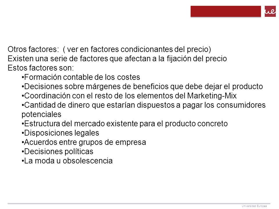 Tema 10 el precio concepto de precio utilidad del precio for Precio del mercado de concreto encerado